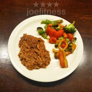 Shredded beef with Sauteed Veggies